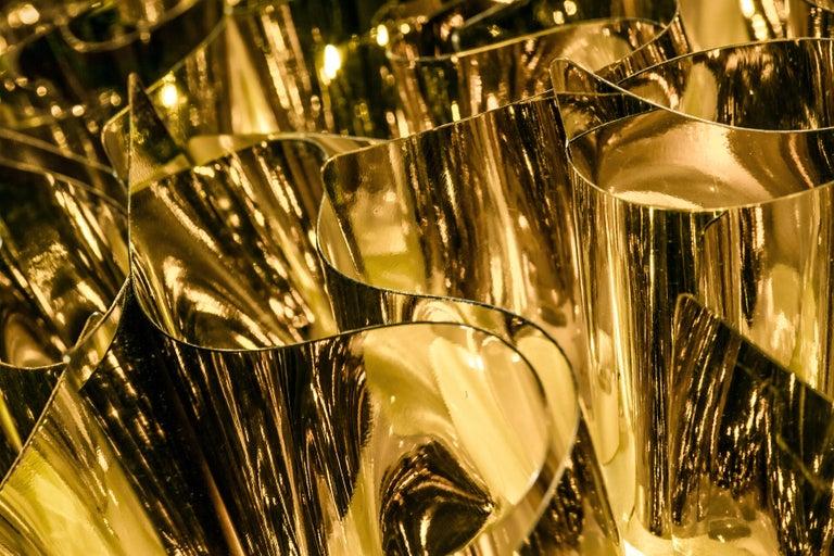Italian SLAMP Veli Mini Flush Light in Gold by Adriano Rachele For Sale