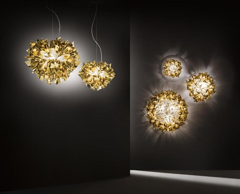 Contemporary SLAMP Veli Mini Flush Light in Gold by Adriano Rachele For Sale