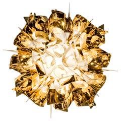 SLAMP Veli Mini Flush Light in Gold by Adriano Rachele