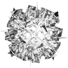 SLAMP Veli Mini Flush Light in Silver by Adriano Rachele