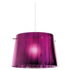 SLAMP Woody Pendant Light in Purple by Luca Mazza