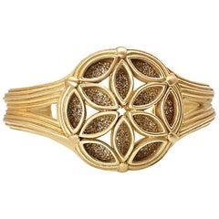 Slane & Slane Diamond Gold Fenestra Cuff Bracelet