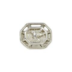 Slane & Slane Sterling Silver Hummingbird Ring w/ DiamondS sz 6.75
