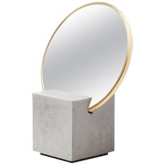 Slash Vanity Mirror Gris and Gris Rubber