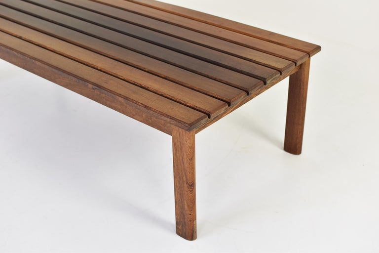 Slat Bench or Coffee Table in Ash and Wenge Dating from the 1960's For Sale 2