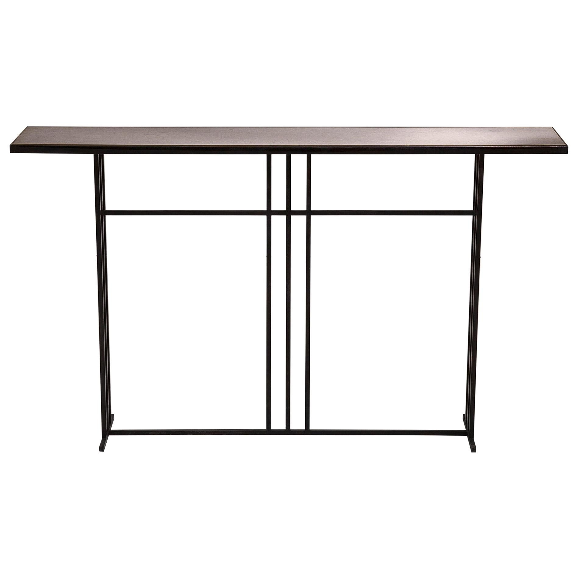 Slate and Brass Console Signed by Novocastrian
