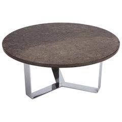 Slate Coffee Table Set on Chrome Base