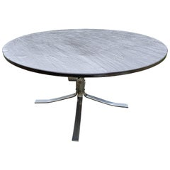Slate Top 'Falcon' Side Table on Chrome Base by Sigurd Ressell for Vatne Møbler