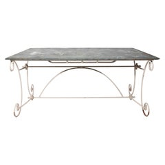 Slate Top Garden Dining Table