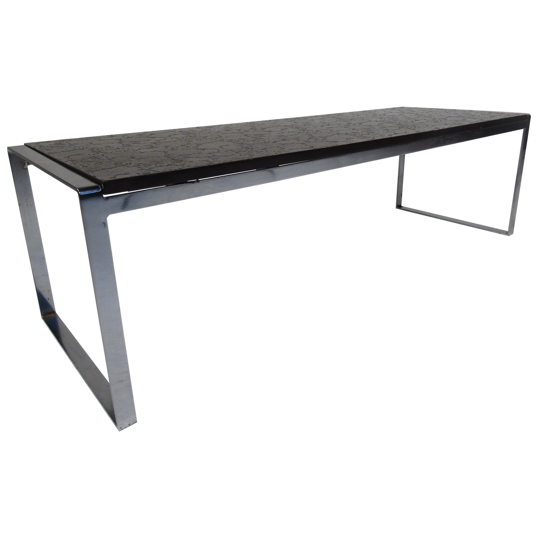 Slate Top Mid-Century Modern Coffee Table