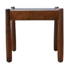 Slate Topped Midcentury Side Table