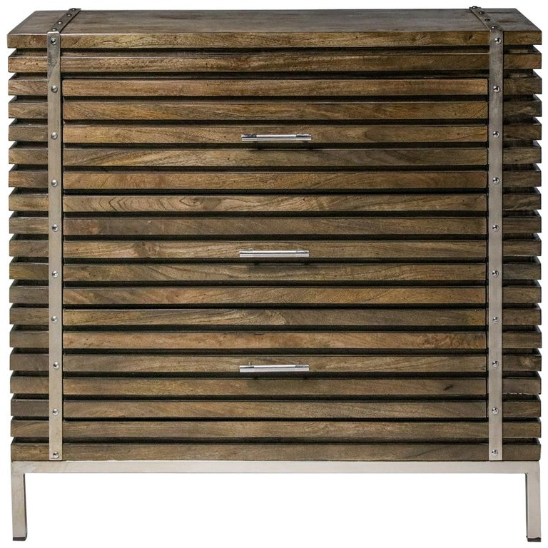Slatted 3-Drawer Chest For Sale