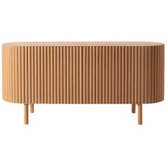 Slatted Beech Wood Rima Credenza by Peca