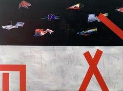 Mathematics- XXI century, Colorful Acrylic, Abstract Painting
