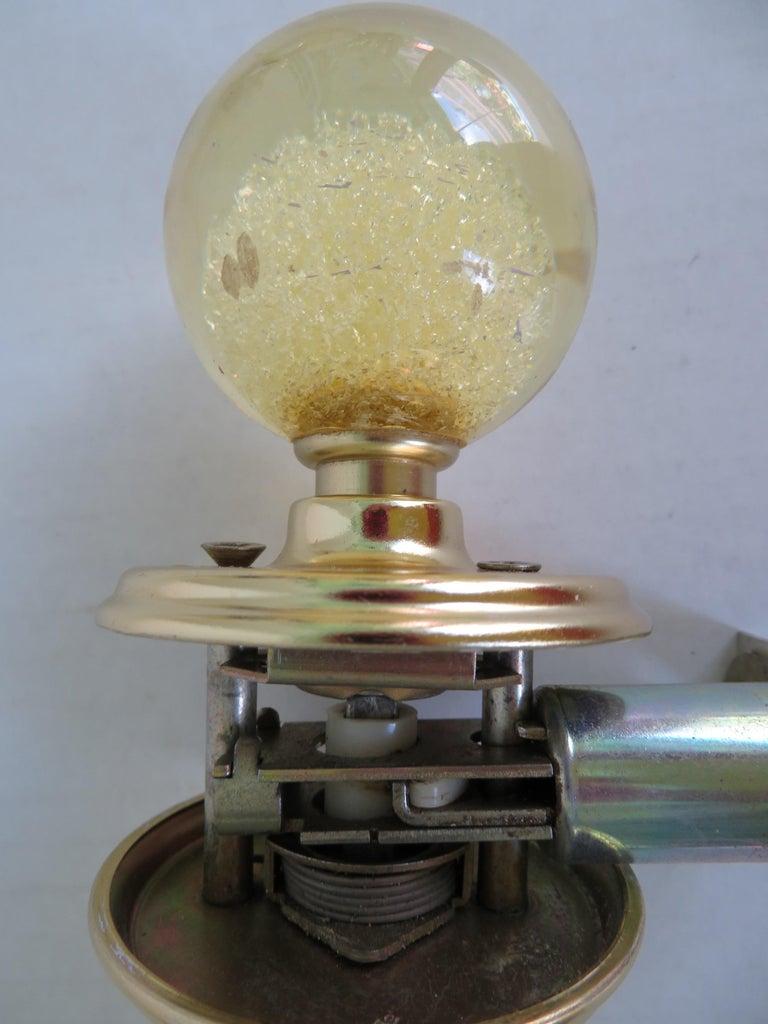 Brass Sleek 1960s Space Age Modern Ruth Richmond Lucite Door Handles Knobs Set of 5 For Sale