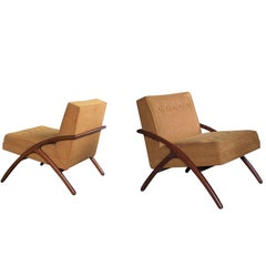 Sleek and Stylish Pair of American 1960s Ash Grasshopper Chairs