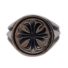 Sleek Chrome Hearts Sterling Ring