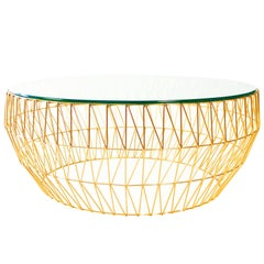 Modern Wire Round Coffee Table by Bend Goods