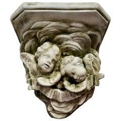 Sleeping Angels, Large Stoneware Weathered Wall Bracket