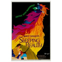 Sleeping Beauty R1970 US 1 Sheet Film Poster, Disney