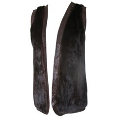 Sleeveless Brown Mink Fur Vest