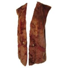 Sleeveless soft Lamb Fur Reversible Vest