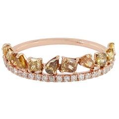 Slice Diamond 18 Karat Gold Eternity Ring