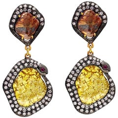 Slice Diamond Earring in Gold and Silver