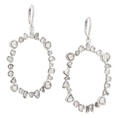 Slice Diamond Large Hoop Earrings