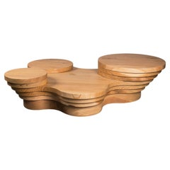 Slice Me Up Cedar Wood Sculptural Coffee Table by Pietro Franceschini