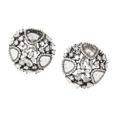 Slice and Rose-Cut Diamond Cosmos Earrings