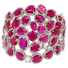 Slice Ruby and Diamond Bracelet