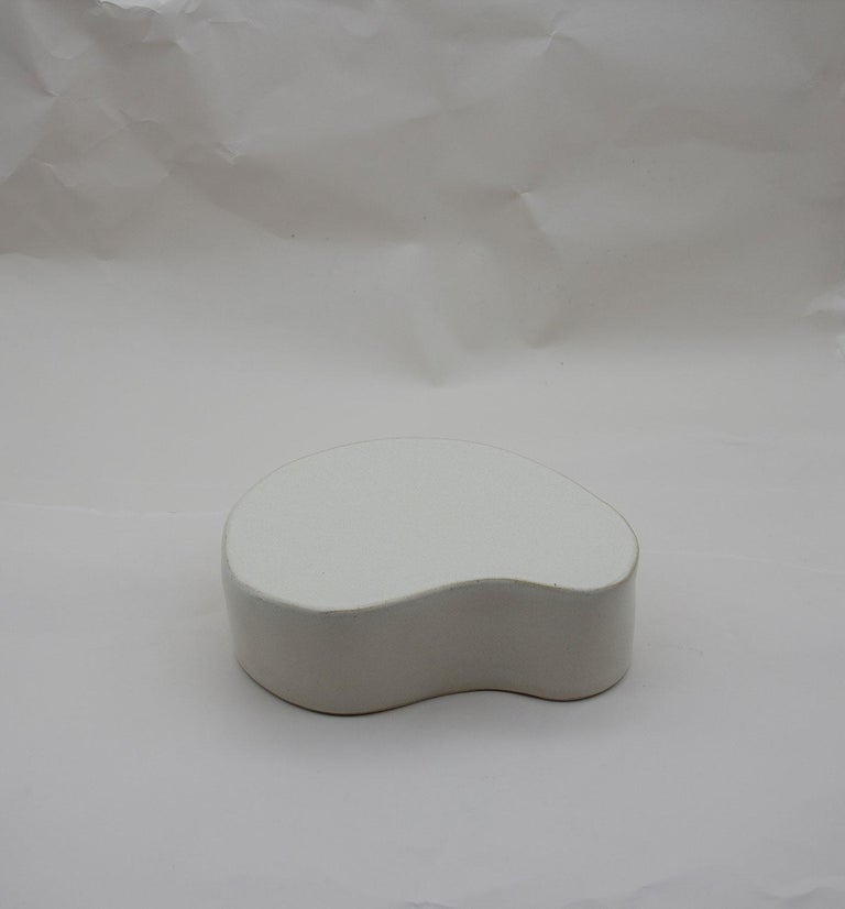 Hand-Crafted Sliced Sphere with Plinth Modern Ceramic Sculpture For Sale