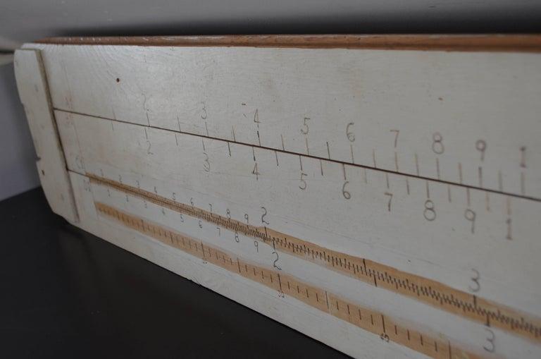 Slide Rule Handmade Oversize for Teacher Classroom Demonstration For Sale 1
