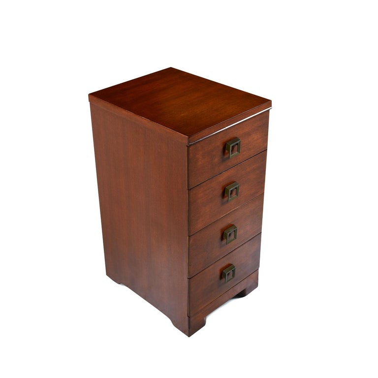 American Showers Brothers Mahogany Chest of Drawers Nightstands For Sale