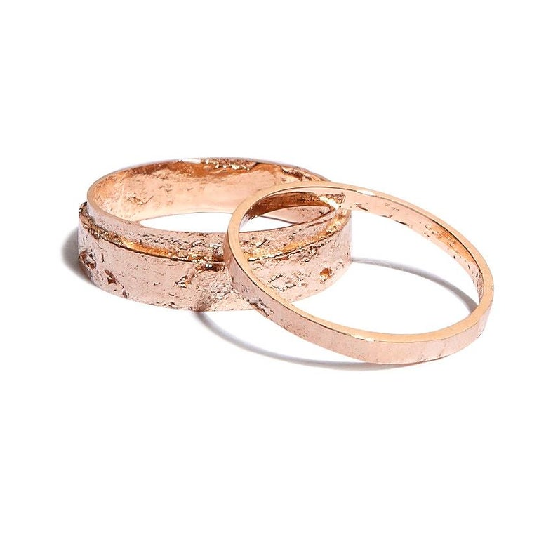 Paper Ring in 18k Rose Gold by Allison Bryan In New Condition For Sale In London, GB