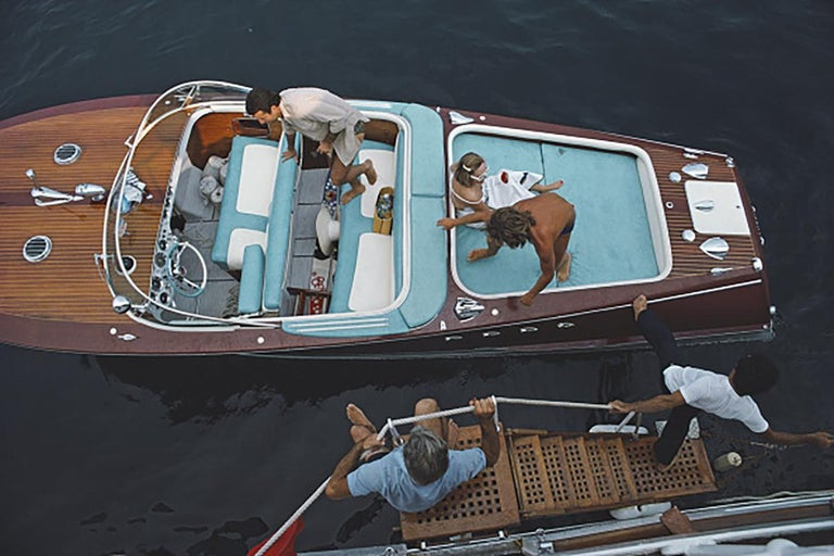 'All Aboard' 1975 Slim Aarons Limited Estate Edition - Photograph by Slim Aarons