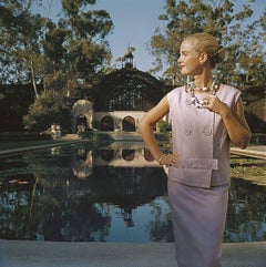 Anne Ryan - Slim Aarons, 20th century photography, Jewellery, Pink suit, Fashion