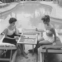 """Backgammon By The Pool"" NEW Slim Aarons, Estate Stamped Edition, Multiple Sizes"