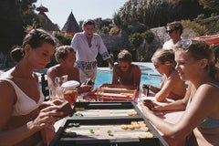 Backgammon Players - Slim Aarons, 20th century photography, Game, Nude, Swimming