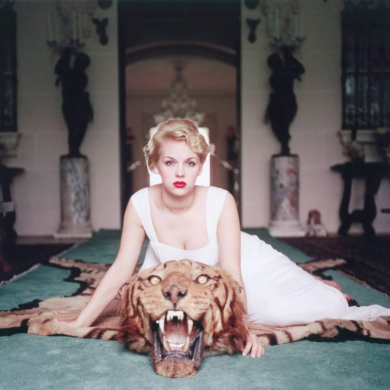 Slim Aarons Color Photograph - Beauty and the Beast