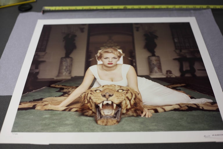'Beauty And The Beast' hand *SIGNED* Limited Edition Slim Aarons C print - Black Figurative Photograph by Slim Aarons