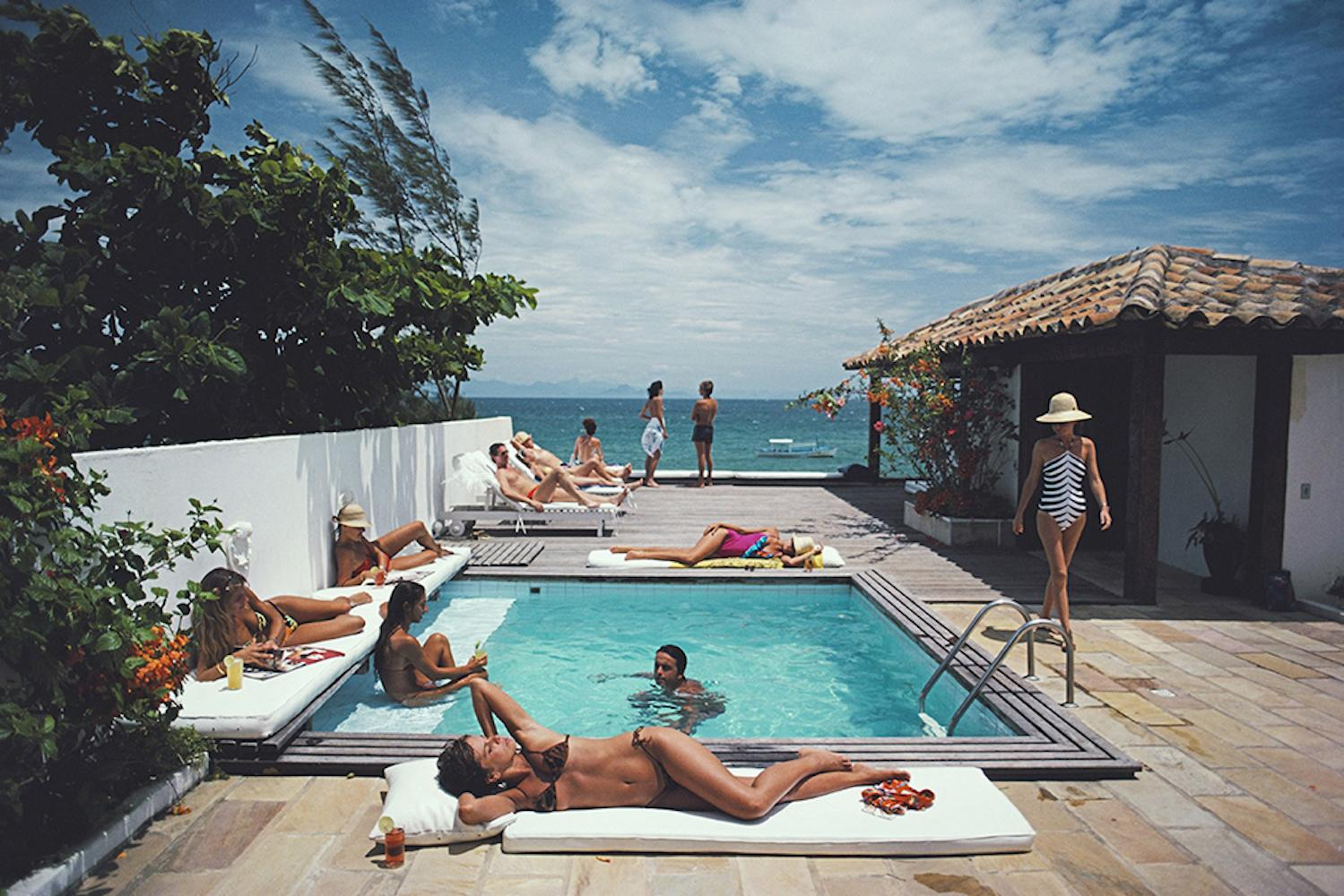 Buzios - Slim Aarons, 20th Century, Blue Skies, Swimming Pool, Tropical imagery