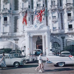 Carlton Hotel - Slim Aarons, 20th Century, French riviera, Cannes, Classic cars