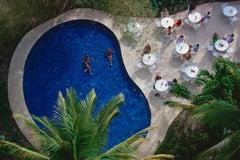 Cavallo Coast, Corsica - Slim Aarons, 20th Century, Pool, Tropical, Palm trees