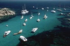 Cavallo Coast - Slim Aarons, 20th Century, Yacht, Italy, Ocean, Seaside