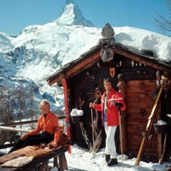 Chalet Costi, Zermatt - Slim Aarons, 20th Century, Mountain Views, Winter, Skier