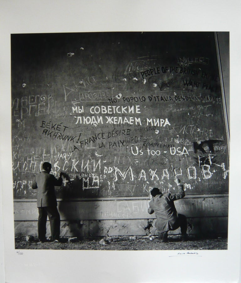 Chancellery Graffiti, (Rare hand signed and numbered) - Photograph by Slim Aarons