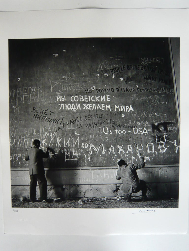 Chancellery Graffiti, (Rare hand signed and numbered) - Contemporary Photograph by Slim Aarons
