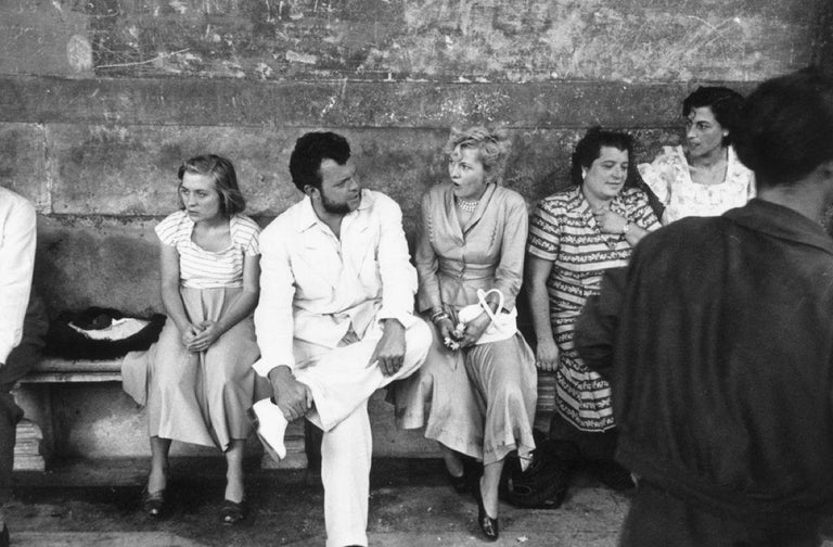 Slim Aarons Black and White Photograph - Director And Star, Orson Welles on set of Othello